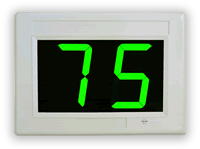 QuickQ ticket system green display